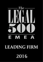Legal 500, Leading Firm 2016